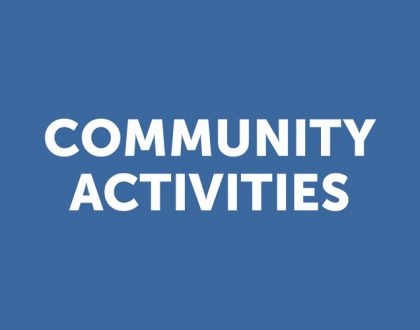 Community Activities (Blue) Sheet: December 9, 2018
