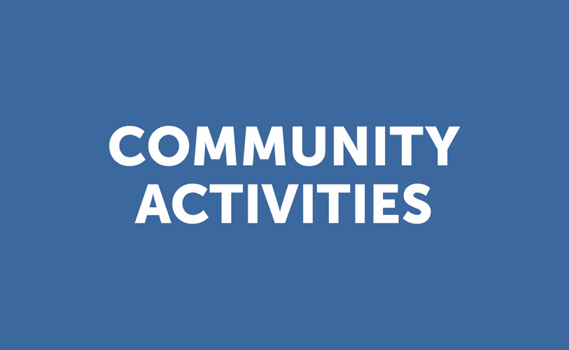 Community Activities (Blue) Sheet: April 1, 2018